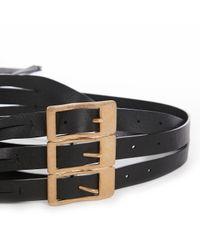 Cinturón en cuero negro Maison Margiela de color Black