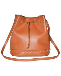 Ralph Lauren Collection Multicolor Pre-owned Camel Leather Handbags