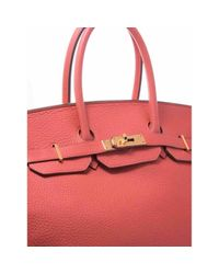 Borsa a mano in Pelle Birkin 35 di Hermès in Red
