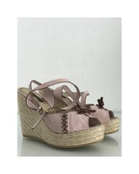 Louis Vuitton Multicolor Leder Sandalen