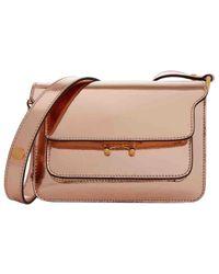 Marni Pre-owned Trunk Metallic Leather Handbags