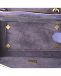 Bolsa de mano en cuero azul Belt Céline de color Blue