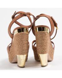 Miu Miu Brown \n Camel Leather Sandals