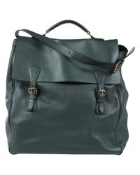 Borsa in pelle verde di Burberry in Green da Uomo