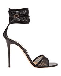 Sandalias en cuero negro Gianvito Rossi de color Black