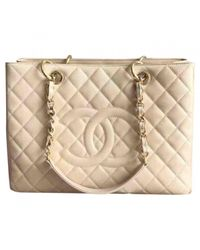 Chanel - Natural Grand Shopping Leather Handbag - Lyst