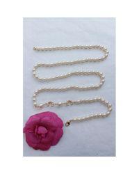 Collar en perlas blanco CC Chanel de color White