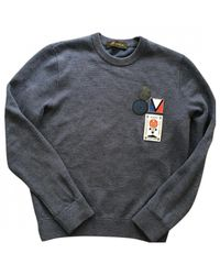 Louis Vuitton Blue Cotton Knitwear & Sweatshirt for men