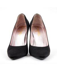 Escarpins en toile Chanel en coloris Black