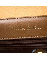 Sac à dos en Toile Marron Nina Ricci en coloris Brown