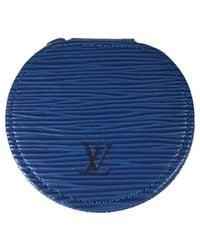Louis Vuitton Blue Pre-owned Leather Purse