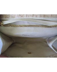 Dior Natural Leinen Clutches