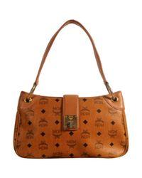 MCM Brown Leinen Handtaschen