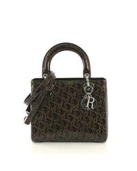 Dior Brown Lady Lackleder Handtaschen