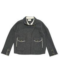 Chaqueta en lana gris Ba&sh de color Gray