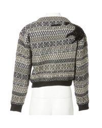Jean Paul Gaultier Gray Multicolour Wool Knitwear