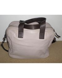 Céline Gray \n Grey Leather Handbag
