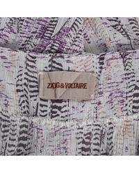 Zadig & Voltaire Purple Cotton Dress