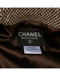 Chaqueta en lana beige Chanel de color Natural