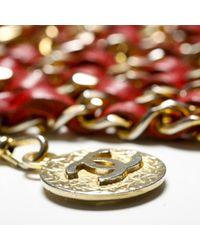 Cintura in catena dorato di Chanel in Multicolor