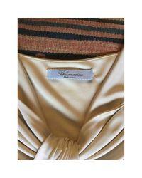 Robe \N en Viscose Beige Blumarine en coloris Multicolor