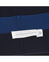 Victoria Beckham Blue Wool Skirt