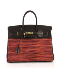 Borsa a mano in pelle marrone Birkin 35 di Hermès in Brown