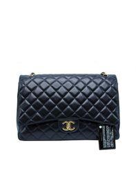 Borsa a mano in pelle nero Timeless/Classique di Chanel in Black