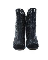 Boots en cuir Giuseppe Zanotti en coloris Black