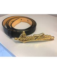 Louis Vuitton Black Leder Gürtel