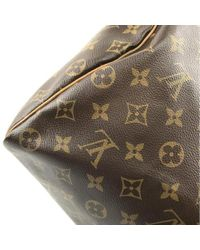 Louis Vuitton Brown Speedy Bandoulière Leinen Cross Body Tashe