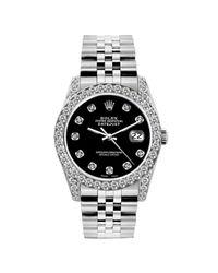 Reloj en acero negro Lady DateJust 26mm Rolex de color Black