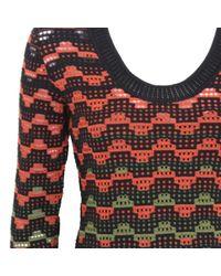 M Missoni Red Wolle Midi Kleid