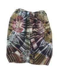 Jean Paul Gaultier Multicolor Vintage Multicolour Silk Skirt