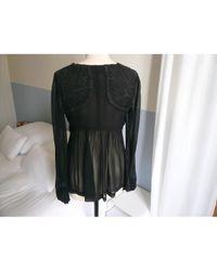 Étoile Isabel Marant Black Silk Top