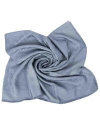 Louis Vuitton - Gray Châle Monogram Silk Scarf - Lyst