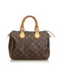 Sac à main Speedy en toile Louis Vuitton en coloris Brown