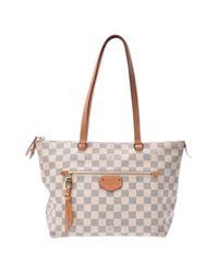 Louis Vuitton White Leinen Handtaschen