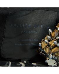 Robe en Soie Noir Philipp Plein en coloris Black