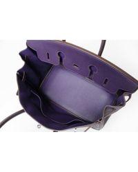 Hermès Purple Birkin 35 Leder Handtaschen