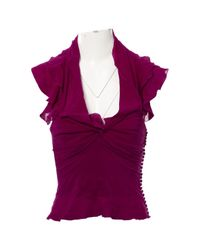 Dior - Vintage Purple Silk Top - Lyst