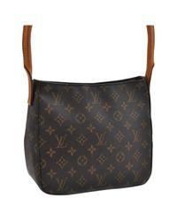 Louis Vuitton Black Looping Leinen Handtaschen