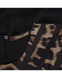 Roberto Cavalli Brown Silk Top