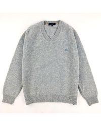 Burberry Wolle Pullover in Blue für Herren