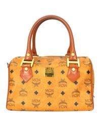MCM Brown Pre-owned Cloth Handbag