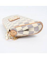 Louis Vuitton Blue Eva Leinen Clutches