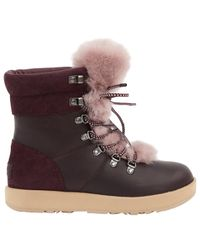 ff869bce198 UGG Pre-owned Leather Snow Boots in Purple - Lyst