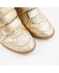 Isabel Marant Metallic Leder stiefel