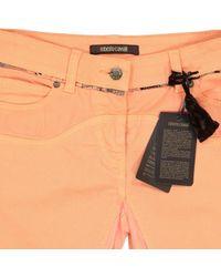 Roberto Cavalli Blue \n Orange Cotton - Elasthane Jeans