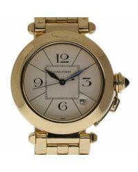 Cartier Pasha Gelbgold Uhren in Metallic für Herren